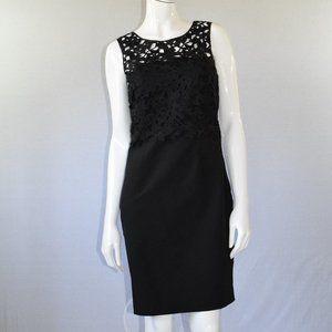 H&M Black Sleeveless Midi Dress Size 8